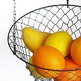 Malmo Hängekorb 3 stöckiger Pflanzen-,Gemüse-,Obstkorb, Basket Verschiedene Ausführungen zur Aufbewahrung Farbe: schwarz - 6