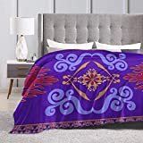 shenguang Manta de vellón Throw Purple Cool Pattern Print Warm Fluffy Plush Winter...