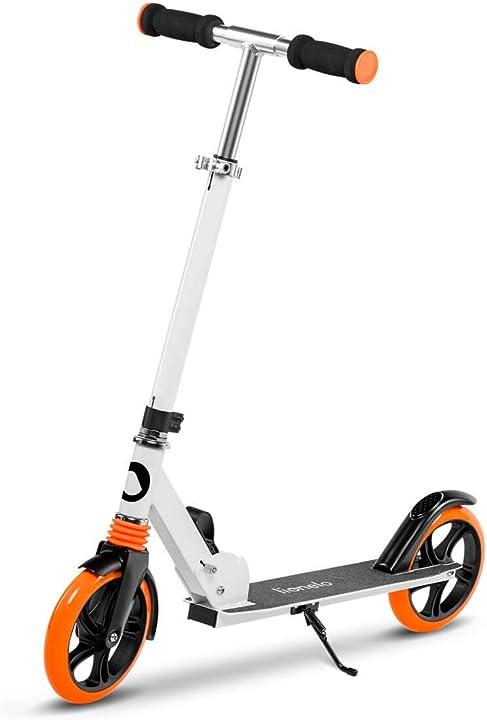 Monopattino regolabile in 3 altezze per bambini e adulti ruote 200mm con ammortizzatori fino a 100kg Lionelo_5902581651334