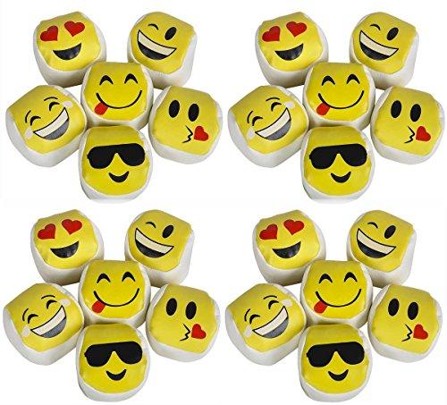 Emoji Kickball Hacky Sack HACKEY Party Balls LOT of 24