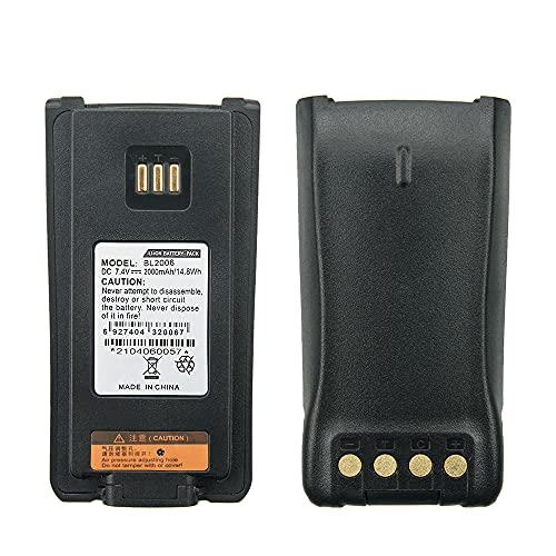 BL2008 BL2503 BL2006 HYT 배터리 2000MAH 교체 배터리 HYTERA DMR PD-702 PD506 PD606 PD700 PD780 PD782 휴대용 양방향 라디오 배터리