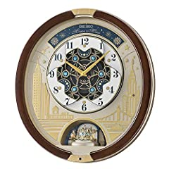 The clocks face splits and rotates while music plays to one of 30 songs on the hour, every hour 13 Swarovski Crystals add impressive detail and charm Sensor disables lights and music when it is dark Volume control allows you to select just the right ...