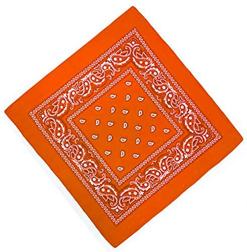 Unbekannt Bandana Kopftuch Halstuch Nickituch Biker Tuch Motorad Tuch verschied. Farben Paisley Muster, Orange, ...