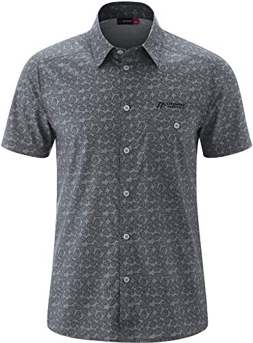 Maier Sports Lorcan Chemise Manches Courtes Homme, Grey Allover Modèle DE 48 2020 T-Shirt Manches Courtes