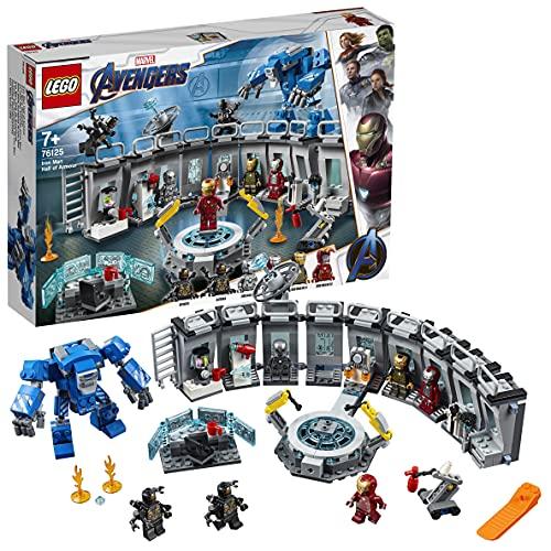 LEGO 76125 MarvelSuperHeroes LaSalledesarmuresd'IronMan, Laboratoire modulaire avec 6 Figurines de l'univers Marvel, Ensemble de Jeu