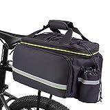 BAIGIO Alforjas Bicicleta, Bolsa de Maletero de Bicicleta 32L, Bolsa de Asiento Trasero de Bicicleta de Gran Capacidad como Portaequipajes de Cercanías (Negro)