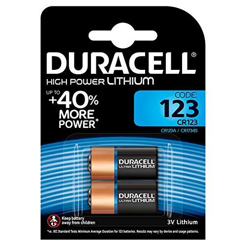 Duracell Typ 123 M3 3 V Lithium Fotobatterie, (2er pack)