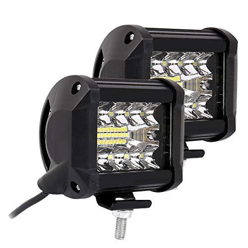 2 Pz Faro da Lavoro Auto LED 200W Fuoristrada Fari Antinebbia Fari Supplementari di Profondità Impermeabile Universale Luci per Moto Auto ATV SUV Trattore Camion 12V 24V