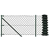[pro.tec] Set completo valla cerca - malla de alambre de acero galvanizado...