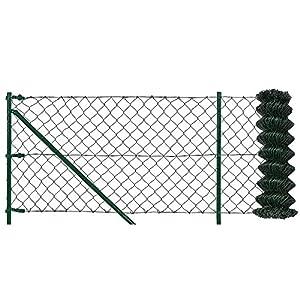 pro.tec] Set completo valla cerca - malla de alambre de acero galvanizado (1,5m x 25m) verde