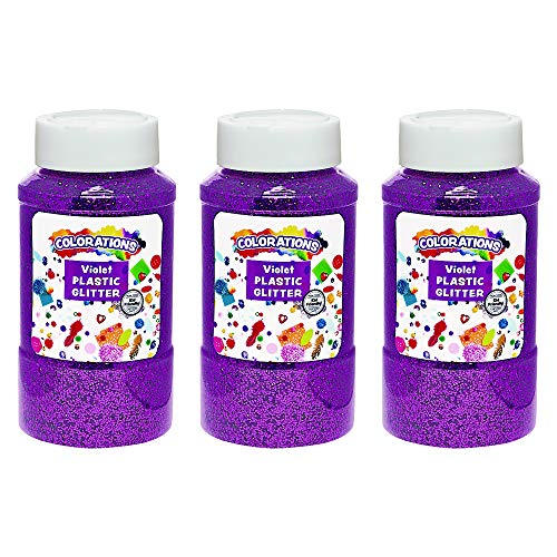 Colorations Extra-Safe Plastic Glitter, Violet - 3 lbs. (Item # GGVI)