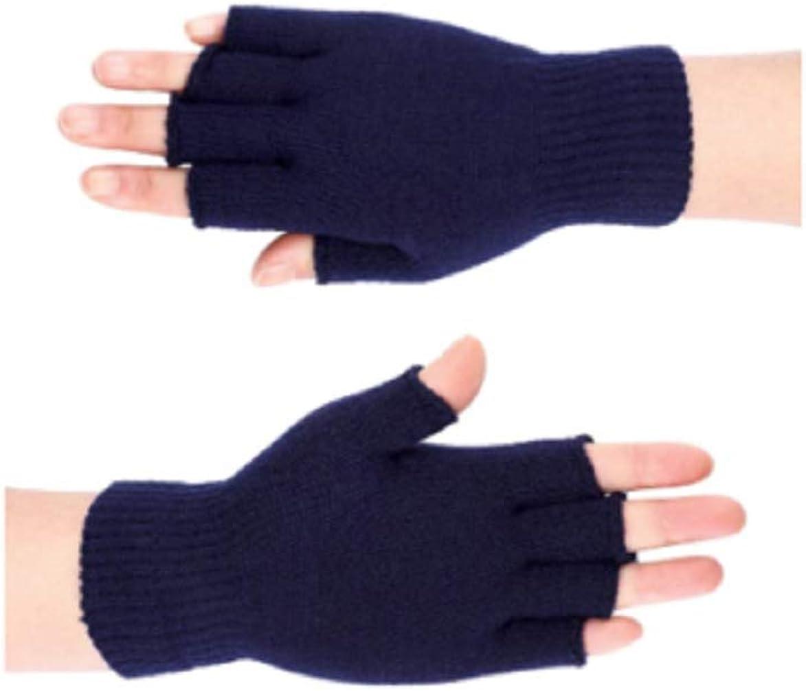 Unisex Winter Warm Half Finger Knitted Gloves Mittens Keep Magic Fingerless 2 PK