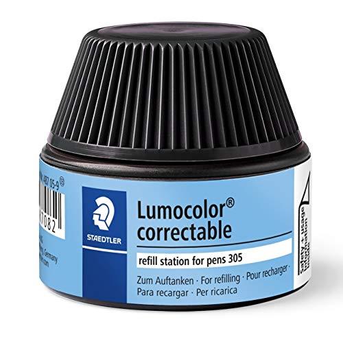 STAEDTLER Lumocolor 487 05-9 - Cargador para bolígrafos correctores 305, color negro