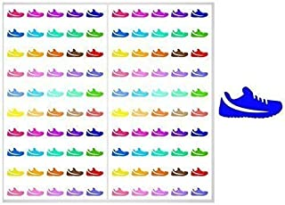 2 SHEET SET Running Shoes Planner Stickers ST011