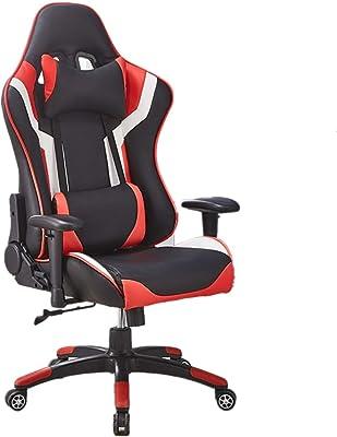 ゲーミングレーシングオフィス コンピュータの椅子は快適さをあなたのモビリティをバック満たすために椅子PUレザーハイバック設定可能ワークチェアキャスターの仕事します ゲーミングチェア (色 : Picture Color, サイズ : 73X73X120CM)
