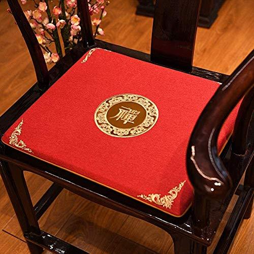 Mirui Chinese Palisander Stuhl Sofakissen Tatami Bodenkissen verdicken Non Slip Sitzkissen Fenster Sitzpolster Weiche Futon Sitzkissen (Color : C, Size : 50x44cm(20x17inch))