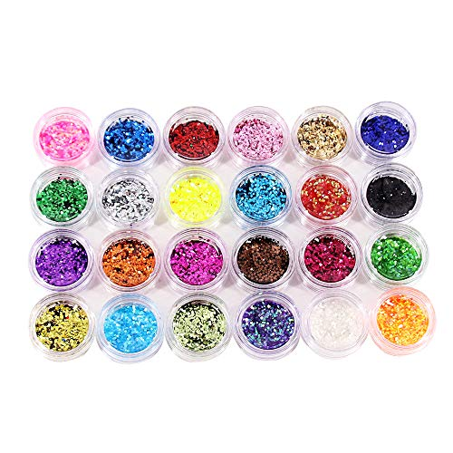 Lifreer 24 Colors Body Glitter, ...