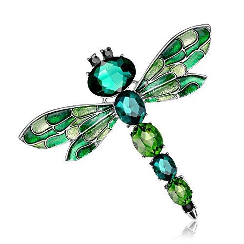 Broches de libélula de diamantes de cristal vintage para mujer paño Brooch pins joyería accesorios regalo para las mujeres joyería
