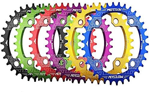 ZHTT Apto para manivela de Bicicleta 104Bcd 32T/34T/36T/38T Plato Ovalado Estrecho y Ancho Rueda de Cadena de Bicicleta MTB Círculo Plato de bielas Piezas de Bicicleta Plato de Bicicleta