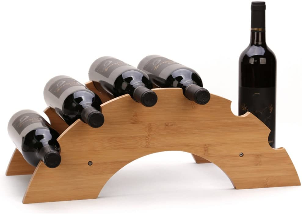Amazon Co Jp Tabletop Wine Rack Minimalistic Wine Stand Unique Wine Bottle Holder Wooden Wine Rack Bottle Server Display Rack Fashion Creative Bridge Design For 6 Bottles A Kitchen Housewares