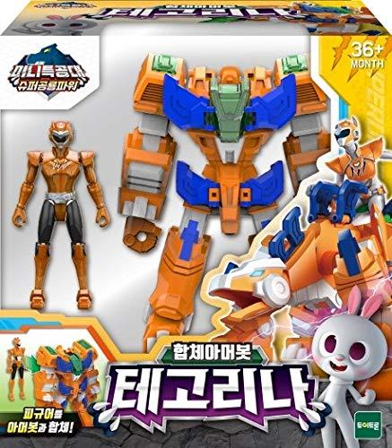 Mini Force Miniforce Super Dino Power 2 TEGO LINA RINA Tegorina Armorbot Dinosaur Robot Juguete