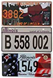 OPO 10 - Set di 3 targhe in Metallo per Auto USA - repliche di Vere targhe Americane Illinois