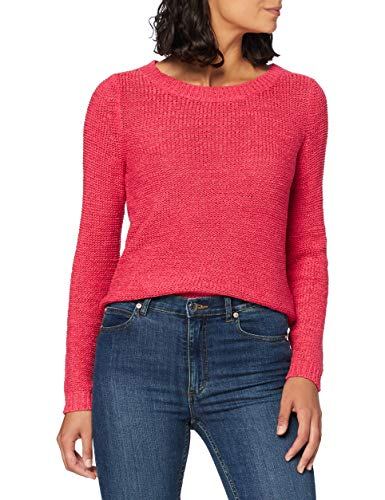 ONLY Damen ONLGEENA XO L/S KNT NOOS Pullover, Claret Red, XL