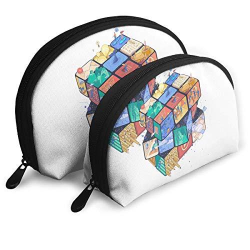 XCNGG Aufbewahrungstasche Creative Colourful Magic Cube Tragbare Reise Make-up Handtasche Wasserdichte Toilettenartikel Organizer Aufbewahrungstaschen