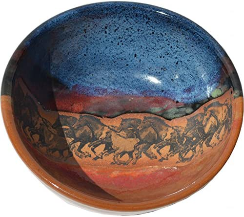 Wild Horses Salad Bowl Glaze in Topics on TV Azulscape Inventory cleanup selling sale