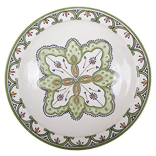 Casa Moro Marokkanische Keramik-SchaleF035 Ø 40 cm groß bunt   handbemalter Keramik-Teller Schüssel Obstschale Servierschale   KSF035