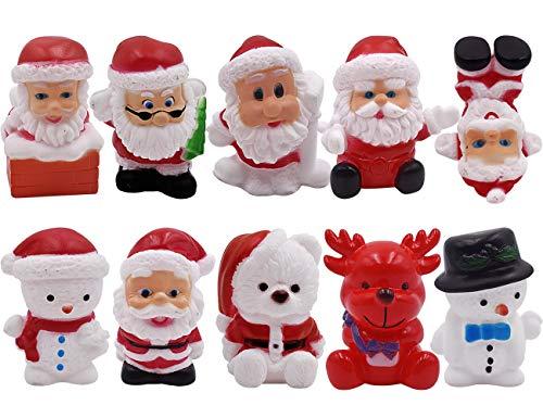 XCSW Decorazione Torta di Natale Burattatura Babbo Natale Decorazioni della Torta, Soggetti Natalizi per Decoro Decorazioni Torte e Dolci Divertente e Festive Babbo Decorazioni