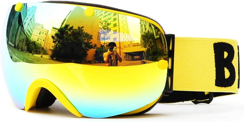 CARWORD Snow Goggles Doppellinse UV400 Anti-Fog Big Ski Maske Brille Skifahren Snow Snowboard Skifahren Eyewear für Mnner Frauen