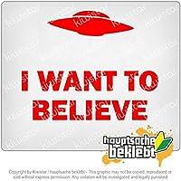 私はUFOを信じたい I want to believe UFO 13cm x 10cm 15色 - ネオン+クロム! ステッカービニールオートバイ