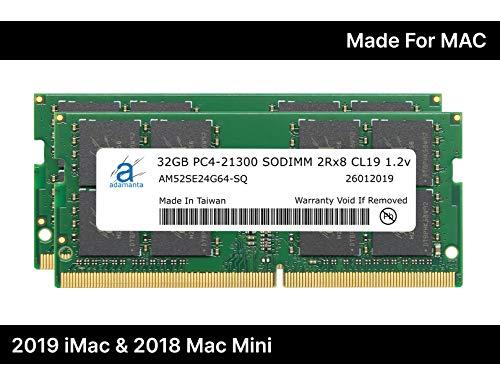 Adamanta 64GB (2x32GB) Memory Upgrade for 2019 Apple iMac 27' w/Retina 5K Display, Late 2018 Apple...