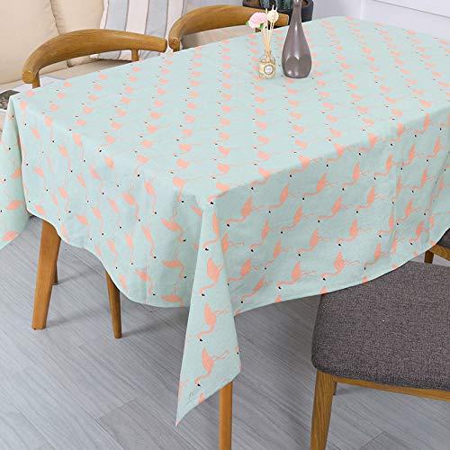ShiyueNB Flamingo Waterdichte wilden moderne eenvoudige stof katoen linnen tv-kast theetafel tafelkleed tafelkleed afdekking handdoek 70 * 70 cm I
