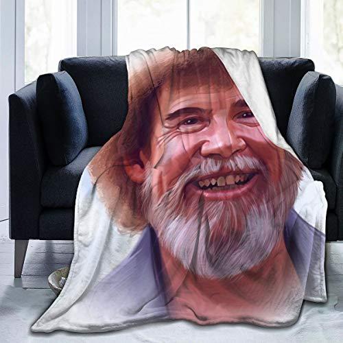 Otikiu B-ob Art Ro-ss Throw Blanket Ultra Soft Lightweight Bed Quilt Home Decor Fleece Blanket Sofa Carpet for Men Women Kids,50'' X40