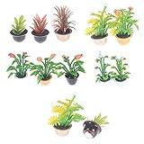 gzzebo Miniatur-Pflanze Bonsai Modell DIY Puppenhaus Garten Ornament Zubehör 1/12 Maßstab,...