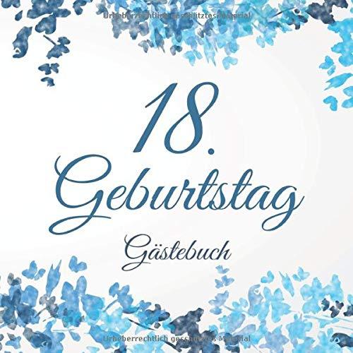 18. Geburtstag Gästebuch: 18 Jahre Geschenkidee - Vintage Album Buch - Zum Eintragen und Ausfüllen...