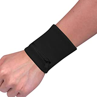 RTYou Wrist Wallet Pouch Band Zipper with Zipper Coin Purses & Pouches Running Travel Gym Cycling Safe Sport (Black)