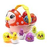 Amy & Benton Juguetes Musicales de Huevos de Pascua, Juguetes electrónicos de Aprendizaje para bebés pequeños, Cesta de gallina para niños y niñas, Regalo de cumpleaños para niños de 1 2 3 4 años