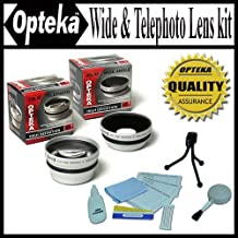 Opteka 0.45x Wide Angle & 2.2X Telephoto HD2 Pro Lens Set for Fuji FinePix S7000 S602 6900