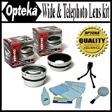 Opteka 0.45x Wide Angle & 2.2X Telephoto HD2 Pro Lens Set for Canon PowerShot A85 A75 A70 A60