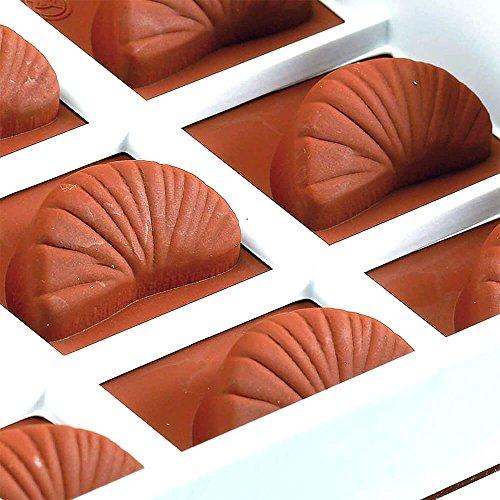 Martellato Coque en Silicone Orange Slice Moule à gelée, Marron, 18 x 33.5 cm