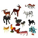 B Blesiya 15 Piezas De Plástico Realista Domesticado Animales De...