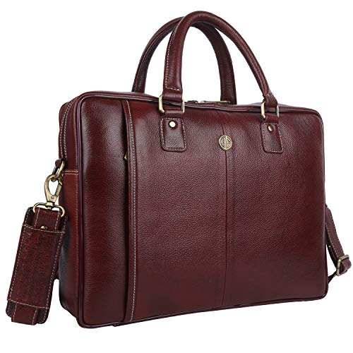 Hammonds Flycatcher Genuine Leather Brown Laptop Messenger Bag
