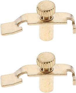HOMYL 2 Pieces Erhu Fine Tuners Precision Erhu Fine-Tuning String Instrument Accessory - Golden