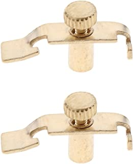 Homyl 2 Pieces Replacement Erhu Fine Tuners Precision Erhu Fine-Tuning String Instrument Accessory - Golden