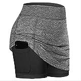 LJT Mujeres Chicas de Alta Cintura Casual Bolsillo de Tenis Falda...