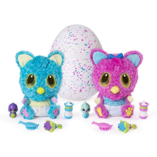 HATCHIMALS- Hatchibabies Peluche Interattivo, Colore Assortito, 6044072
