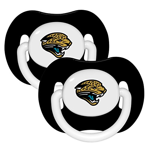 Jacksonville Jaguars Black 2-Pack Infant Pacifier Set - 2015 NFL Baby Pacifiers